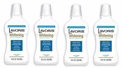 4 Bottles Lavoris Whitening Teeth Mouthwash Fresh Mint 18 oz Ea NEW SEALED