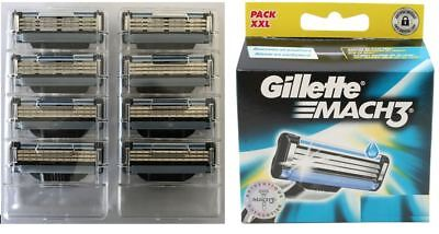 GILLETTE MACH 3  RASIERKLINGEN 8er Blister ohne OVP NEUWARE Gillette Rasierklingen Mach