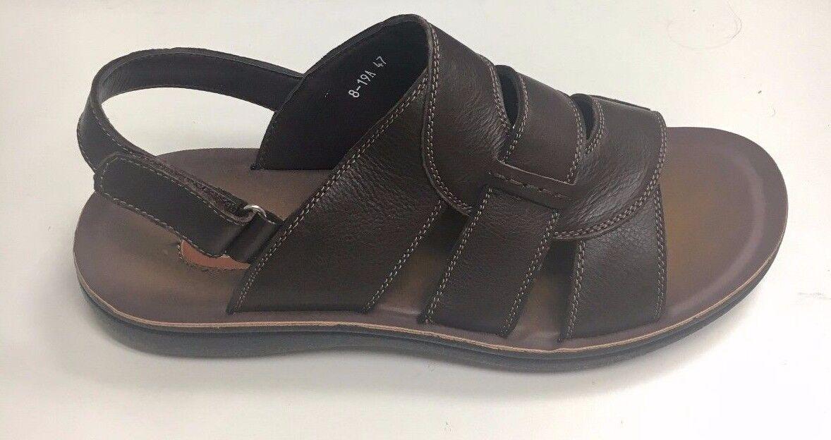 Comforthotics® Class Men's Flip Flop Leather Sandal Orthotic 8-19A (LARGE SIZES)