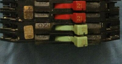 Original Zinsco Circuit Breakers 1 20 Amp And 1 30 Amp
