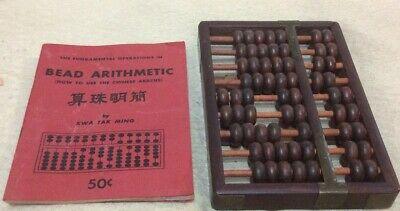 Vnt. Abacus/Booklet How To Use Chinese Abacus by KWA TAK MING About 50 Years Old