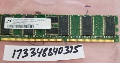 256MB DDR 266MHZ PC-2100 184-PIN ECC REGISTERED CL2 DIMM SINGLE RANK MEMORY