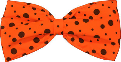 Morris Costumes Accessories Makeup Elastic Comical Clown Orange Bow Tie. BB333OR - Clown Costumes Accessories