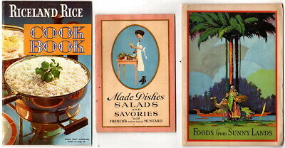 Riceland Rice 1960's, French's Mustard 1923, Dromedary Fruits 1925, Recipe Books