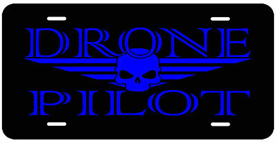 Drone Pilot License Plate. DJI Go Pro Hubsan Yuneec Walkera