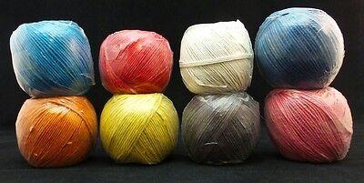 2mm Polished Hemp Twine Colors 48lb Test 225