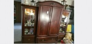 TV Wall Unit with Side Storage Units