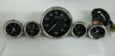 Smiths Replica 52mm Kit- Temp  Oil  Fuel  Amp Gauge Tachometer 100mm