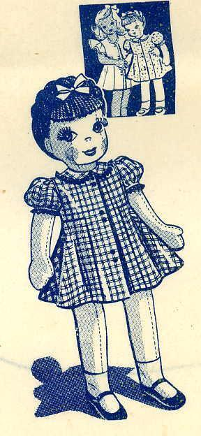 Pattern for 32 in jointed Girl doll 732 used clothing will work for her