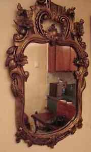 antique deux miroirs début 1800 et l`autre debut 1900