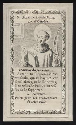 santino incisione 1600 S.MASSIMO DI AVEIA LEVITA M.