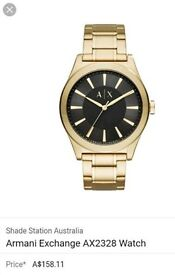 Armani exchange emporio men's watch gold