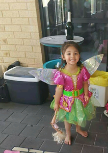 Kids tinkerbell costume including wings Forrestdale Armadale Area Preview