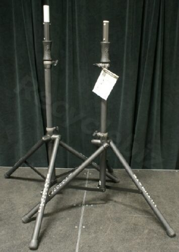 New (Pair) - Ultimate Support TS-100B Speaker Stands TS100 (2) Hydraulic Stands