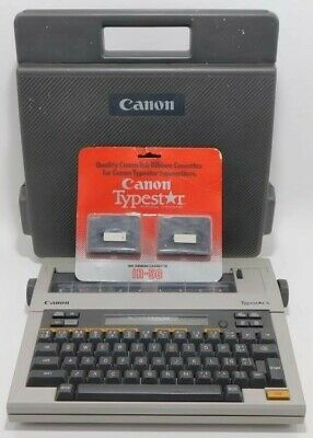 Vintage Canon Typestar 6 Typewriter In Case 2 New Ribbon Cassettes