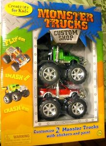 MONSTER TRUCKS CUSTOM SHOP: Creativity for Kids by Faber-Castell