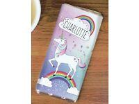 Personalised 'unicorn' chocolate bar