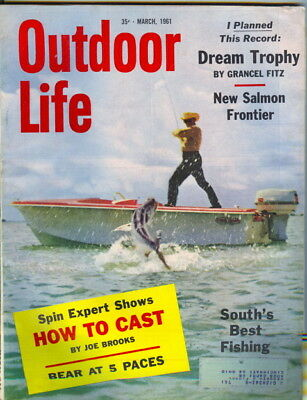 1961 Outdoor Life Magazine: South's Best Fishing (Best Life Magazine Covers)
