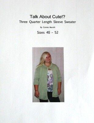 3/4 length sleeve sweater knitting machine pattern!
