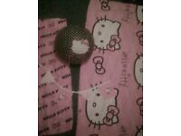 Hello kitty bedroom bundle curtains single bed set light shade bunting