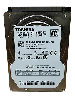 "Toshiba   MK1665GSX 160GB 2.5"" SATA II Laptop Hard Drive comprar usado  Enviando para Brazil"