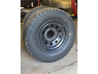 "16"" tough modular wheels 265/70/16 all terrain / mud terrain chunky tyres 6 stud L200 hilux etc"