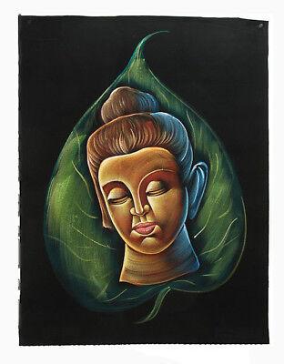 Batik Fabric of Buddha Painted 70x52cm Handmade 20