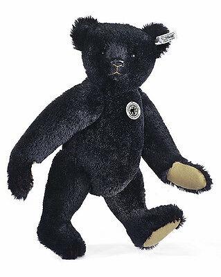 Steiff Teddybär schwarz, Replika 1907 Mohair inkl. Zertifikat