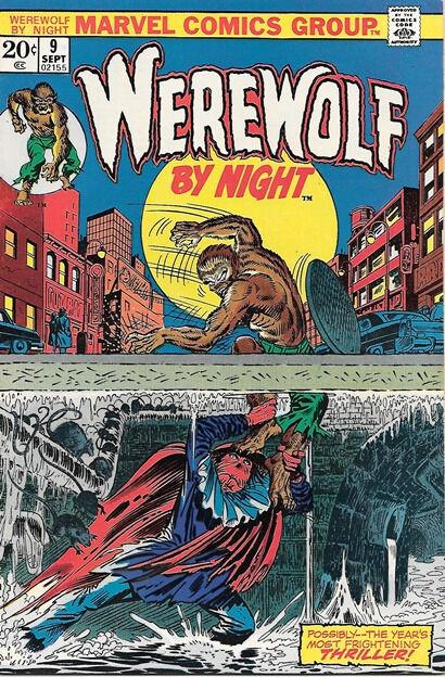 Werewolf By Night Comic Book #9, Marvel Comics 1973 VERY FINE+