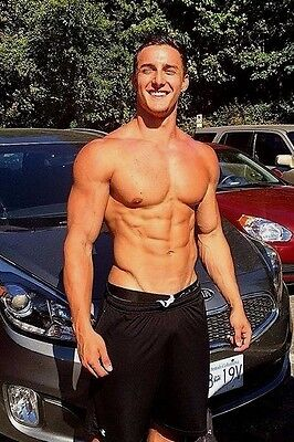 Shirtless Male Athletic Muscular Hot Body Dude Bare Chest Abs PHOTO 4X6 D1039