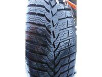 2 MUD & SNOW tyres 175/70 R14 on 4 stud steel rims
