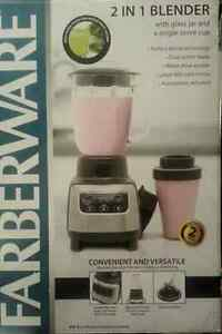 2 in 1 Blender With Glass Jar 48oz - Brand New
