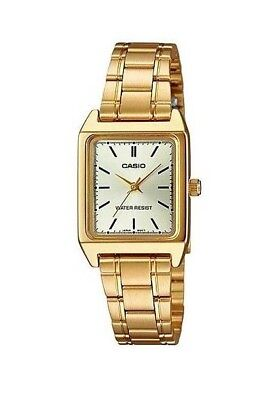 NEW MODEL Casio LTP-V007G-9E Women's GOLD Stainless Steel Bracelet Watch Analog Analog Stainless Steel Bracelet