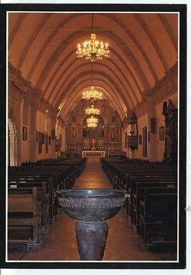 Alte Postkarte - Die Basilika der Carmel Mission von innen ()