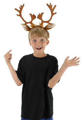Reindeer Costume Adult Child Kids Headband With Antlers Elope New