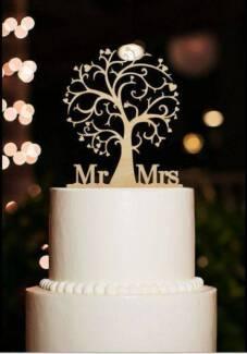 Wedding cake toppers in adelaide region sa gumtree australia wedding cake topper wood mr mrs tree of life new junglespirit Images