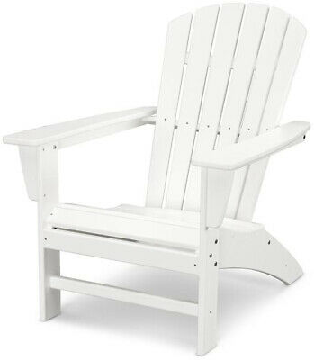 POLYWOOD Traditional Curveback White Plastic Outdoor Patio A