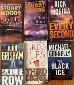 MYSTERIES & other fiction: $5 each or 3/$10:  THE BLACK ICE (M.