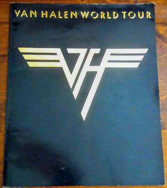 VAN HALEN 1979 WORLD TOUR CONCERT PROGRAM EDDIE VAN HALEN - DAVID LEE ROTH