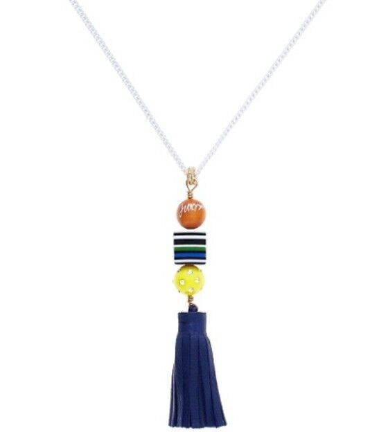 NWT JUICY COUTURE Briolette Tassel Necklace Orig $78