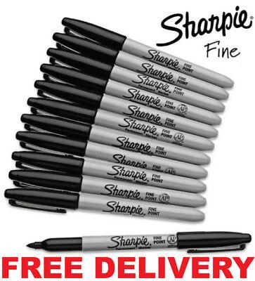 Sharpie Black Fine Point Bullet Tip Permanent Marker Pens Pack 2468101224