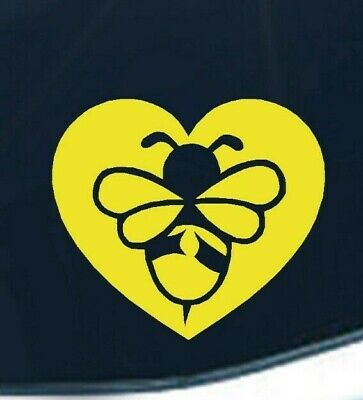 Bee Heart Save The Bees Bumble Bee Honey support vinyl transfer sticker (Save The Honey Bees Sticker)