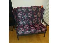 Parker knoll style two seater upcycled
