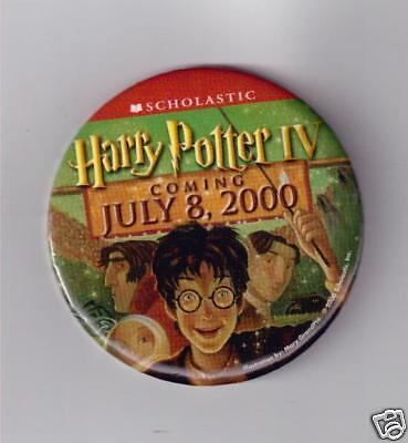 Harry Potter Button - Harry Potter IV Promotional Pin/button