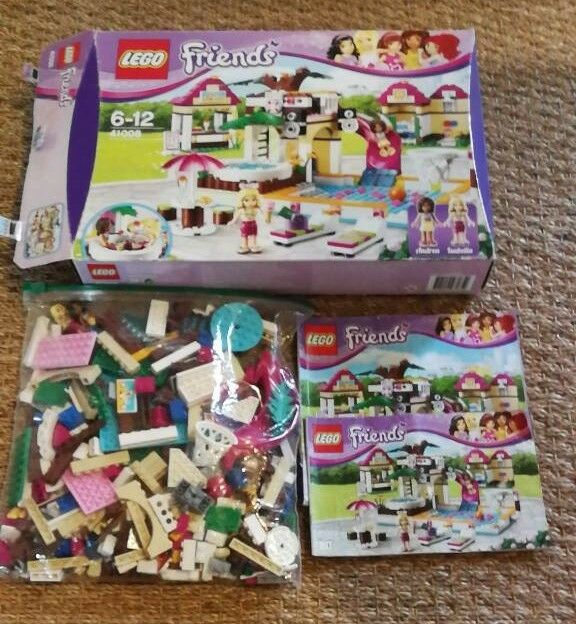 Lego Friends Heartlake City Pool 41008 Complete With Box Instructions