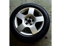 AUDI A4 B6 16 INCH ALLOY WHEEL WITH TYRE 5X112