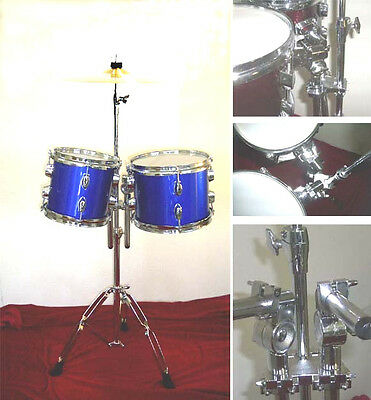 """NEW  BLUE  8""""&10"""" CONCERT TOMS W/HARDWARE.FREE.."""