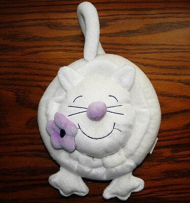 Le Top White Plush Cat Purse/Bag Wristlet Children's