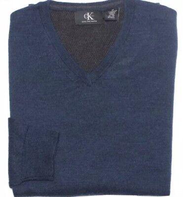 NEW Calvin Klein Men's V Neck Sweater 100% Merino Wool ZIMONE  Size M