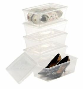 Clear plastic shoe storage container - Lot of 3 Boxes
